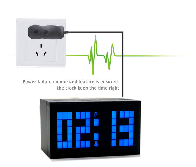 Large LED Clock with Time, Date, Temperature Display. Alarm Snooze. Large LED Clock with Time, Date, Temperature Display Luminous and Adjustable Brightness