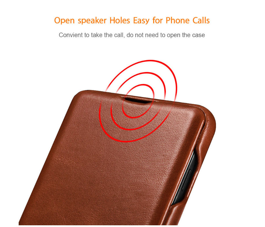 iCarer Genuine Leather Protective Cases with Flip Cover for Samsung Galaxy S9 / S9 Plus, S10 / S10 Plus