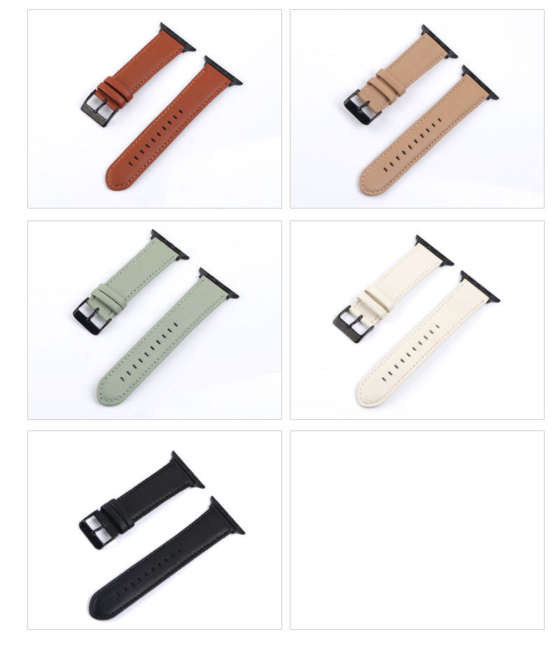 Genuine Leather Watch Bands For Apple Watch Generation 5,4,3,2,1, 38, 40, 42, 44 mm -  Soft and Bendable