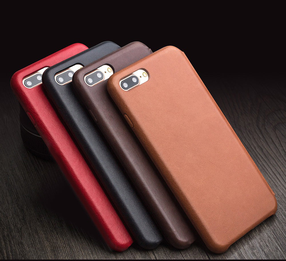 iPhone 7/7 Plus Plus Genuine Calfskin Leather Case with Flip Cover -32 processing procedure to create a Masterpiece