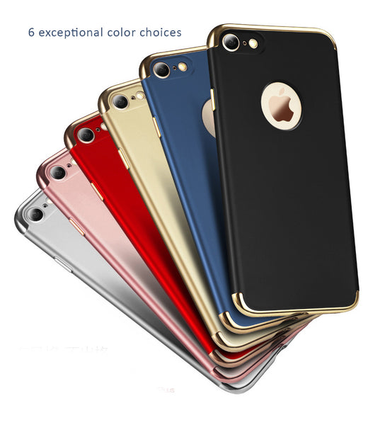 iPhone 7 / 7 Plus Hard Shell Cases/Skins with Gold Plated Parts to Ensure the Quality - Matt Smooth Surface Processed