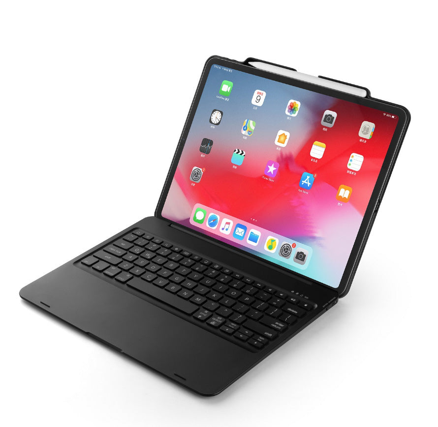 "Illuminating 7 Backlit Color Options Bluetooth Keyboard for iPad Pro 12.9"" 3rd Generation 2018. Turn your iPad to a MacBook. With ABS Back Shell and Stylus Pen Holder"