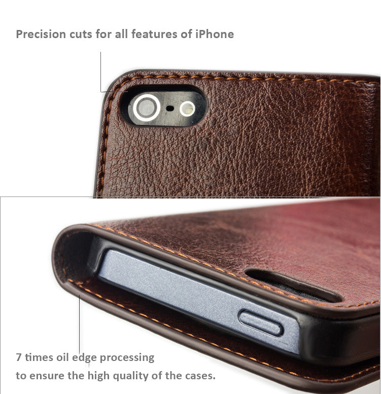 Genuine Quality Leather Cases with Cover for iPhone 6 SE, iPhone 5/5S