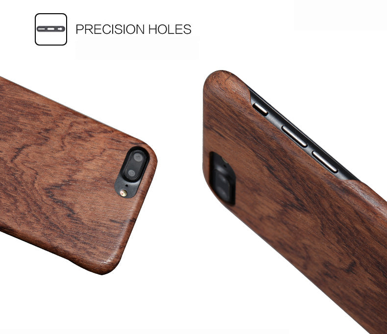 Solid wood phone cases with Kevlar fabric applied for iPhone 7, 7 Plus, 8/8 Plus. Give your phone an armor protection.