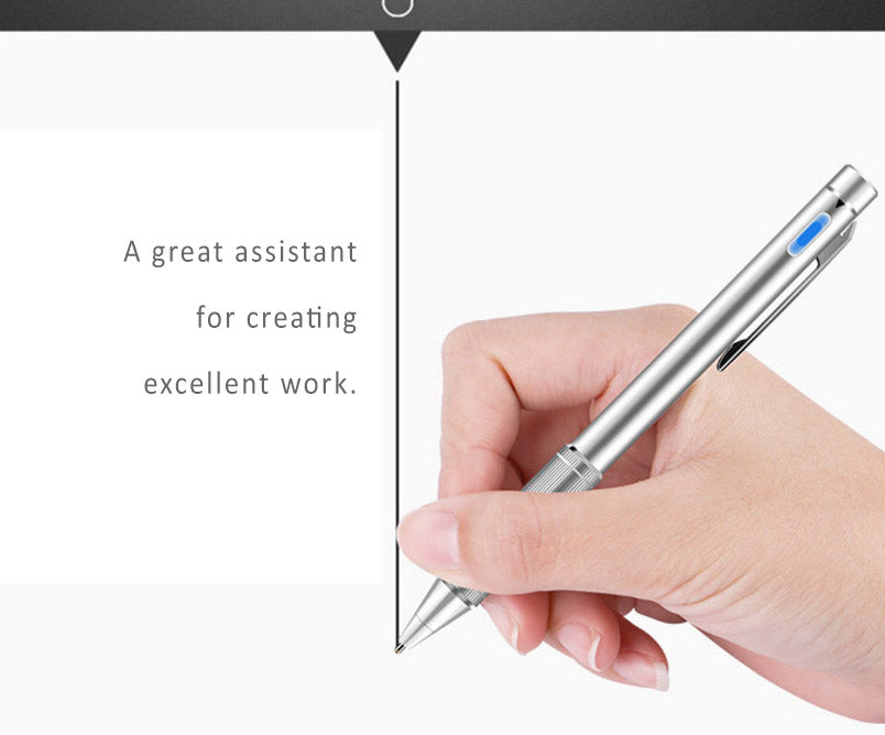 1.45mm ultra-fine head high precision sensitivities active capacitive stylus pen for iPad, Samsung, Surface...etc. 99% Tablets compatible.