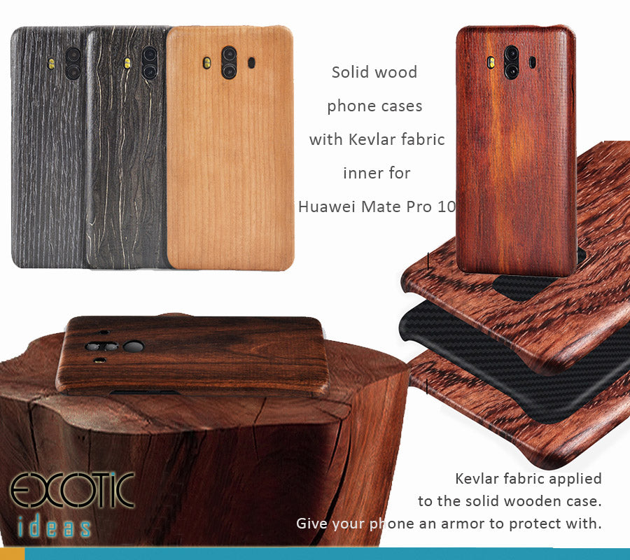 buy online 2c7f7 bc0fc Solid wood phone cases/shells with Kevlar fabric applied for Huawei Mate  Pro 10. Give your phone an armor protection.