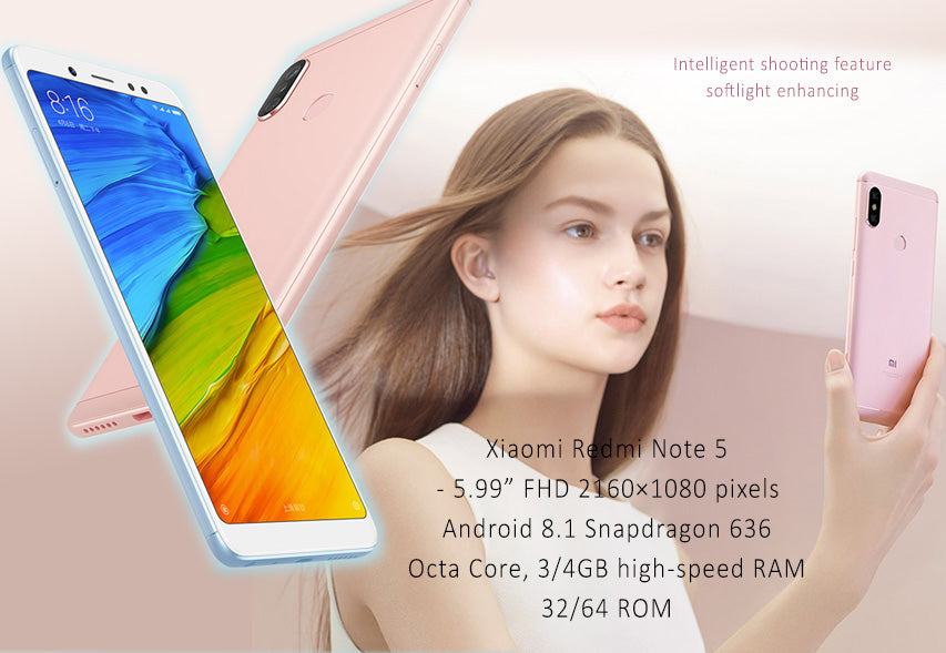 """Details about Xiaomi Redmi Note 5 Smartphones Octa Core 4GB RAM 64GB ROM  5 99"""" HD Android 8 1"""