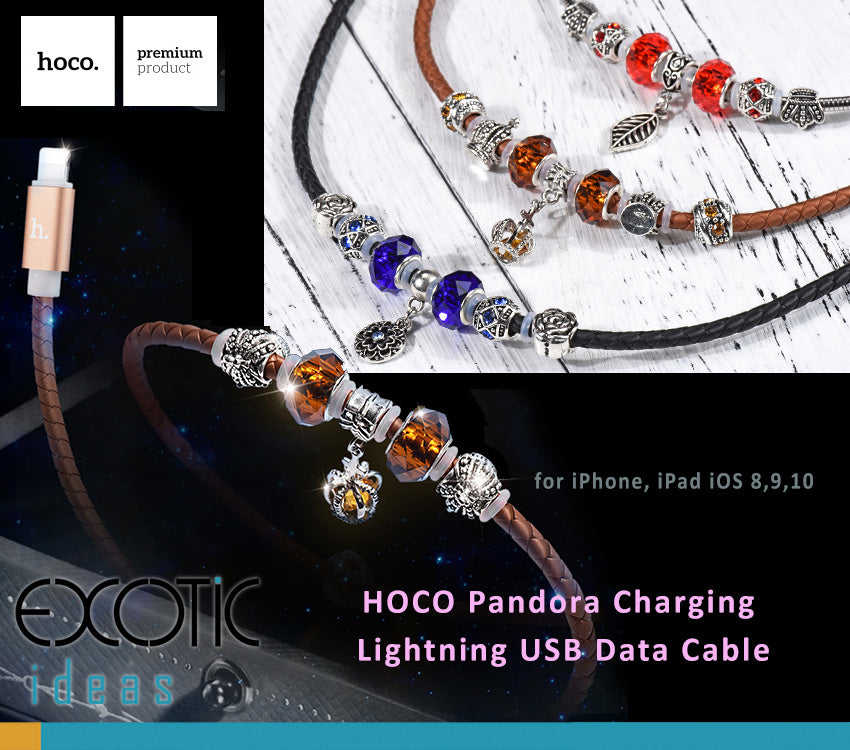 HOCO Pandora Jewelry Bracelet Lightning USB Data Charger Cable iPhone iPad Mini