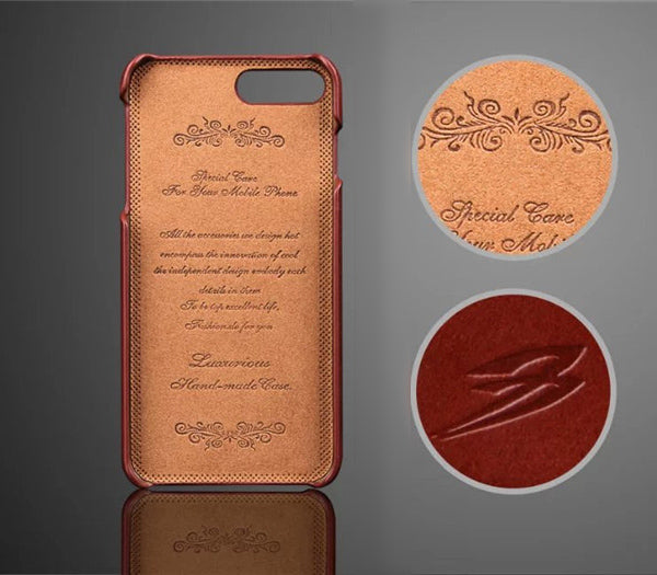 Genuine Leather Cases/Skins for iPhone 7/7 Plus with Pocket Feature