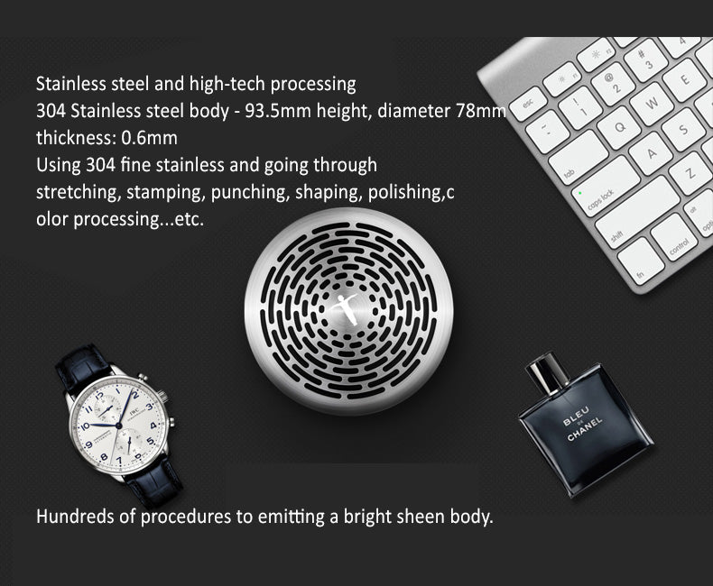 Abramtek King Kong 4 Bluetooth MP3 Player Speaker with surround sound, sub-woofer effect. 304 Stainless Steel Body - Present a simplicity beauty.