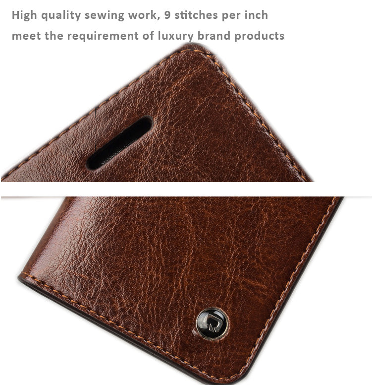 Genuine Quality Leather Cases with Cover for iPhone 6 SE, iPhone 5/5S, Free Gift - Tempered Glass Film/Screen Protector.