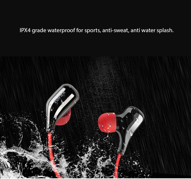 Edifier Dual Bluetooth Sports Headphones, IPX4 Waterproof, APT-X Lossles Sound CVC Features
