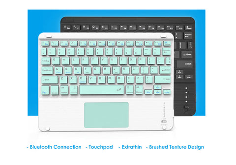 7 Colors Blacklit Bluetooth Keyboard with Touchpad. Supports Android, Windows and iOS systems
