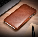 Retro Classic Genuine Top Selected Cowhide Leather Protective Cases/Skins for iPhone 12, 12 Mini, Pro, Pro Max