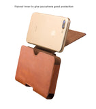 "Genuine Cowhide Leather Multiple Function Cover + Waistpack for iPhone 8/7,6/6S, iPhone 8 Plus, 7 Plus, 6/6S Plus. fits to phone size 5.5"" or under"
