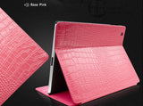 Top Grade Genuine Leather Sleeve Bag Cover for iPad 2, The New iPad, iPad 4 with Crocodile Texture Design