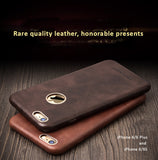 Genuine Calfskin Leather Cases/Skins for iPhone 7/7 Plus, 6/6S, 6/6S Plus, Free Gift - Tempered Glass Film