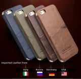 Genuine Cowhide Leather Cases/Skins for iPhone 6/6S, 6S/6S Plus - Made of imported quality leather