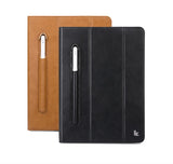 "Leather Smart Cover for iPad 10.2"" 2019 - with Stylus Pen Holder and Stand Feature"