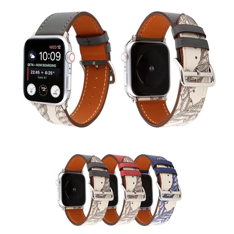 Genuine Leather Watch Bands/Straps for Apple Watch 5, 4, 3, 2, 1 Single Loop Strap - for 38, 40, 42, 44mm
