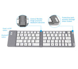 Foldable Pocket Bluetooth Keyboard for Apple iOS, Windows  Android 4.0 or above, Easy to carry around