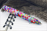 Kaleidoscope Series - Alloy Metal Ballpoint Pen with Fine Crystal Rhinestone Set - Kaleidoscope concept - length - 10.8 cm  - 2 in a Giftset