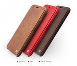Ultrathin Light Genuine Calfskin Leather Cases with Flip Cover for iPhone 6/6S, 6/6S Plus