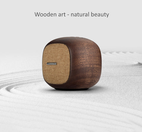 Edifier Woodbun - Natural Sabilley Wood Bluetooth Speaker with MP3 Player Feature. 48mm full-frequency unit speaker gives high quality sound effect.