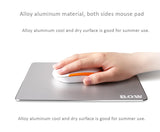 Alloy aluminum both-sided mouse pad. Special process for fast and accurate positioning, perfect mouse pad choice for games or office use.