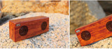 Solid Wood Bluetooth Speaker Dual-channel stereo speaker, Handsfree calls, Micro SDHC Card Supported