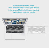 Wired+Wireless Backlit Bluetooth Pocket Keyboard, Compact Foldable, Aviation Aluminum Case.
