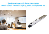 2.4GHz Optical Air Mouse Pen with laser pointer,web browsing,stylus, for Windows,  Android, iOS, iMac