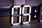 Hollow Frame Big LED Clock with automatic brightness adjustment for wall, windows or desk.