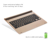 Quality Aluminum Base Backlit Bluetooth Keyboard with 7 color Backlight. Exclusive design for iPad Pro 12.9""