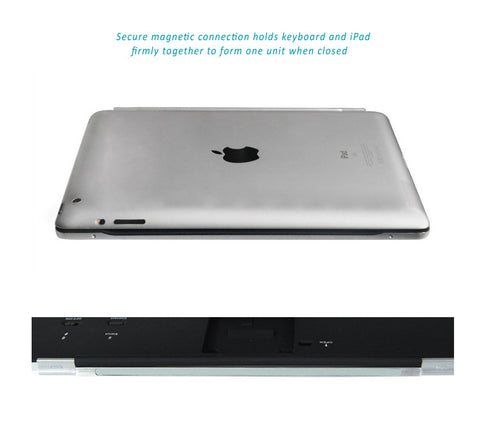 Illuminating 7 Colors Backlit Bluetooth keyboard for iPad 2, iPad 3, iPad  4, with flip out stand