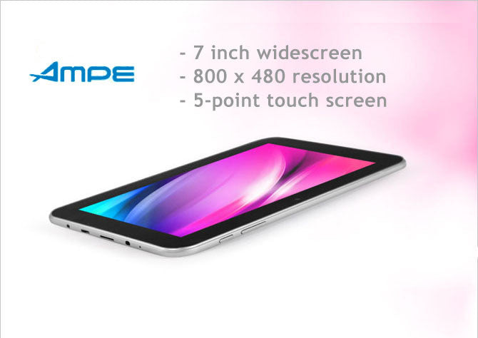 "7"" Tablet All Winner A13  Tablet, SANEI N77, Android  4.0.8, 5 Point Touch Tablet, 8GB, WiFi, LAN, 3D, Skype, Games, eBook"