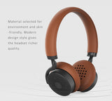 Remax Touch Control Dual Pairing Bluetooth Leather Headset,AUX Input, HD Sound Quality - 300HB
