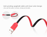 Lightning Sync Data/Charger USB Spaghetti Cable for iPhone 5/5C/5S, iPhone 6/6 Plus,iPhone 6S/6S Plus, iPad Air iPad Air 2, iPad Mini 1,2,3 -Two-sided plug USB port design - Eco Friendly TPE+Aluminum cable, extremely durable.