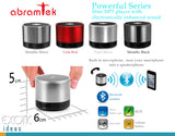 Abramtek Powerful Bluetooth MP3 Player Surround Sound Stereo Speakers. Call Answering Feature