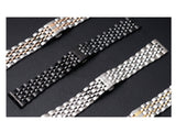 316L Stainless Steel Watch Band for Apple Watch 6,5,4,3,2,1, Seven Beads Loop Strap with Butterfly Buckle