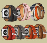 Genuine Leather Watch Bands/Straps for Apple Watch 4, 3, 2, 1, Double Loop Strap - 38mm, 40mm, 42mm, 44mm