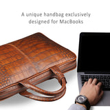 "Genuine Leather handbags for MacBook Air and Pro 11.6"", 12"", 13.3"", also for laptops size 11""-13.3""."