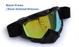Ski Goggle MX Goggle with HD 1080P wide-angle video camera, breathable, wide soft elastic band.