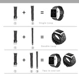 Braided Genuine Leather Watch Bands /Straps for Apple Watch 1,2 ,3.  Single Loop, Double Loop Strap 2 bands in One Set