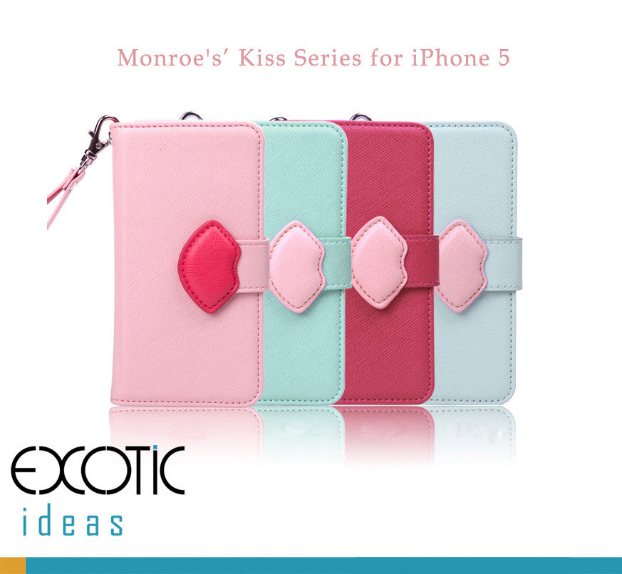 8thDays Monroe's Kisses Series  iPhone 5 Case Skin -  with Cover and strape