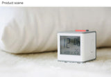 Cube Alarm Clock with LCD Digital Time Date Temperature Green Backlight, Snooze