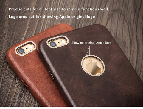 separation shoes 3b1f8 d1087 Genuine Calfskin Leather Cases/Skins for iPhone 8, iPhone 8 Plus, Free Gift  - Tempered Glass Film