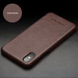 Genuine Selected Cowhide Calfskin Leather Protective Cases Exclusive Design for iPhone 8