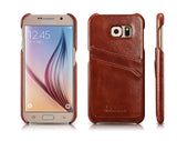 icarer Genuine Leather Back Shell Cases for Samsung Galaxy S6/S6 edge