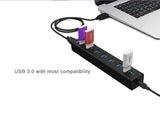 Orico H7013-U3 USB3.0 7 port high-speed hub- VIA top grade chip, Support up to 1T portable hard disk